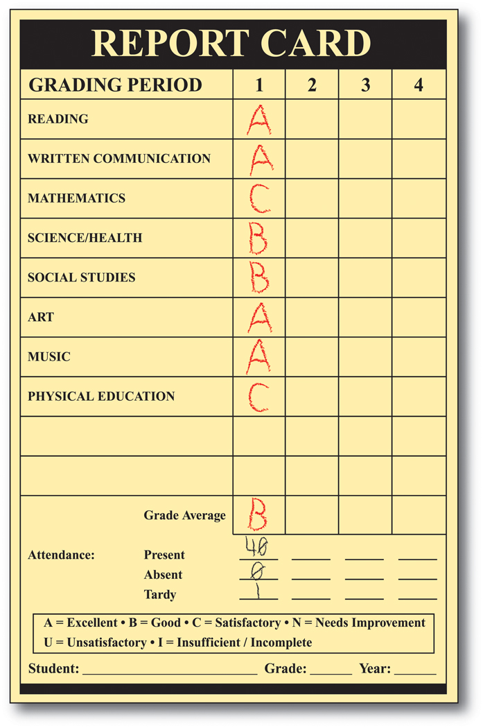 Report Card Forms